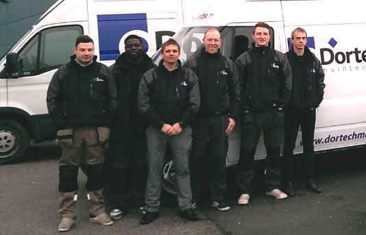 Glazing maintenance team