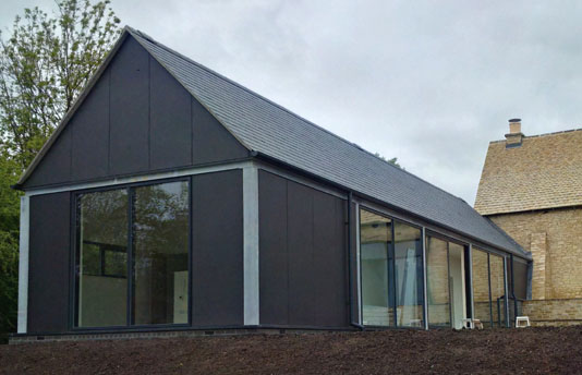 Crucis Barn, House Extension Project Completed - glazing refurbishment