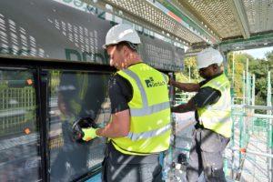 Commercial glazing maintenance